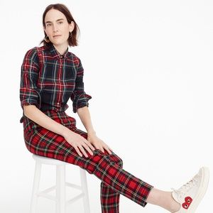 J. Crew holiday plaid tartan perfect shirt cotton